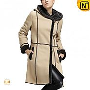 CWMALLS® Custom Ladies Shearling Trench Coat CW640251