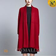 CWMALLS® Womens Double Face Wool Cape Coat CW652207