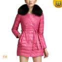 Double Breasted Fur Trimmed Down Coat CW681158 - JACKETS.CWMALLS.COM