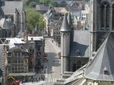 St. Michael's Bridge in Ghent Belgium (Sint-Michielsbug)