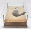 Cat Hammock: Hybrid Glass Coffee Table & Hanging Pet Bed