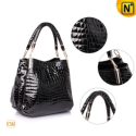 Women Double Handle Leather Handbags CW277613 - CWMALLS.COM