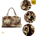 Womens Leopard Leather Shoulder Handbags CW300209 - CWMALLS.COM
