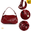 Women Red Leather Shoulder Bags CW300215 - CWMALLS.COM