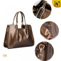 Women Leather Satchel Handbags CW301322 - CWMALLS.COM
