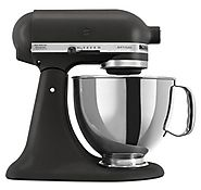 KitchenAid KSM150PSBK Artisan Series 5-Quart Mixer, Imperial Black