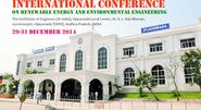 INTERNATIONAL CONFERENCE ON RENEWABLE ENERGY AND ENVIRONMENTAL ENGINEERING 29-31 December 2014