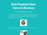 Best Peephole Door Viewers Reviews