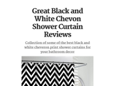 Great Black and White Chevon Shower Curtain Reviews