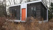 Modern 227 Square Foot Charles Eames-style tiny house- single floor living