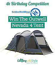 Win An Outwell Nevada 4 Tent In Our 4th Birthday Competition