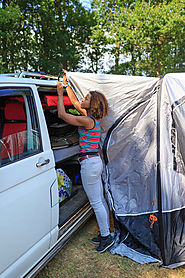 CAMPING | A Weekend With The Vango AirHub Hexaway Low Campervan Awning – Review
