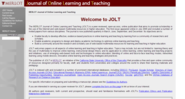 JOLT - Journal of Online Learning and Teaching