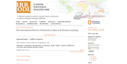 The International Review of Research in Open and Distance Learning