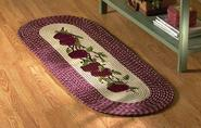 Braided Apple Burgundy Kitchen Rug Runner