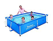 "Bestway 56041 Rectangular Splash Frame Pool, 94"" x 59"" x 23"""