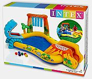 "Intex Dinosaur Inflatable Play Center, 98"" X 75"" X 43"", for Ages 2+"