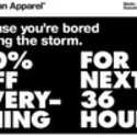 American Apparel Angers Twittersphere With 'Hurricane Sandy Sale'