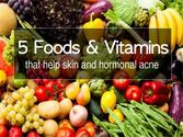 5 Foods and Vitamins to Help Skin and Hormonal Acne Breakouts