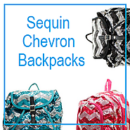 Best Sequin Chevron Backpack for Girls - Glitter, Sparkly Chevron Backpacks