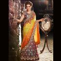 Embroidered Stylish Orange Shade Cut Lehenga Choli