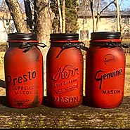 Vintage Red Canister Set