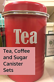 Red Tea, Coffee and Sugar Canisters for Kitchens