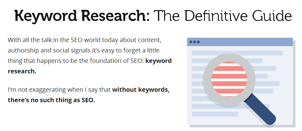 Headline for Keyword Research The Definitive Guide All 7 Chapters Included
