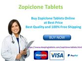 Buy Zopiclone Tablets