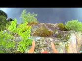 Jumping off the 12 metre rock at farvann Kristiansand Norway