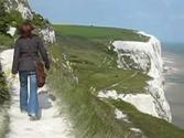 Windy walk along the White Cliffs of Dover - England, UK