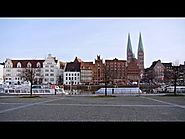 Lübeck, Germany: old town, Lübeck cathedral, Trave riverside, Krähenteich - (Full HD 1080p)