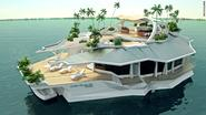 The $6 million man-made floating island