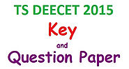 TS DEECET 2015 Key, Question Paper Download