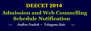 DEECET 2014 Admission and Web Counselling Schedule Notification