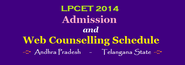 LPCET 2014 Admission and Web Counselling Schedule Notification | LPCET 2014 Admissions