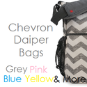 Best Chevron Diaper Bag - Grey, Pink, Blue, Navy, Yellow, Black and White - Best Chevron Stuff
