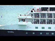 Swan Hellenic Minerva arrives Devil's Island French Guiana November 30 2013