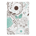Blue und Brown Whimsical Flowers iPad Mini Case from Zazzle.com