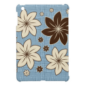 Floral design on blue iPad mini cases from Zazzle.com