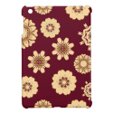 Retro Burgandy Floral Cover For The iPad Mini from Zazzle.com