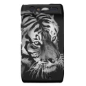 Beautiful Tiger in Black and white Droid RAZR Cover from Zazzle.com