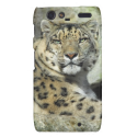 Snow Leopard Portrait Droid RAZR Covers from Zazzle.com