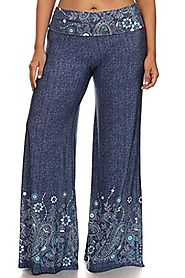 Best Plus Size Printed Palazzo Pants 1xl 2xl 3xl