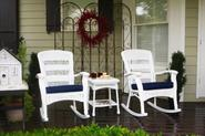 Tortuga Outdoor Plantation Rocking Chair Set - White
