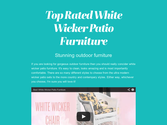 Top Rated White Wicker Patio Furniture