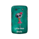 Little Miss Death with Ice Cream -custom text- Blackberry Bold Cover from Zazzle.com