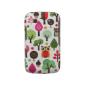 Cute retro owl and trees pattern blackberry case from Zazzle.com
