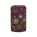 Cute doodle retro flowers heart pattern design blackberry bold covers from Zazzle.com