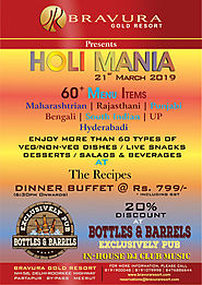 Bravura Gold Resort Presents HOLI MANIA on 21st March, 2019.